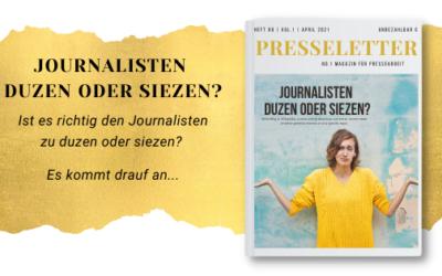 Journalisten duzen oder siezen? Die richtige Ansprache